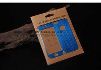 ультратонких матового алюминия кожи для iphone 5g 5s оформленный металлический корпус для iphone5 роскошь задняя крышка 4 цвета с розничной упаковке