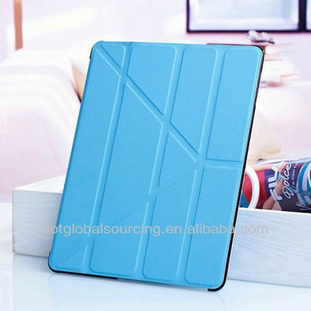 2014 Hot Sale for ipad 4 3 2 Smart Cover Utrathin 5 Shapes Stand Design Magnetic Leather Case