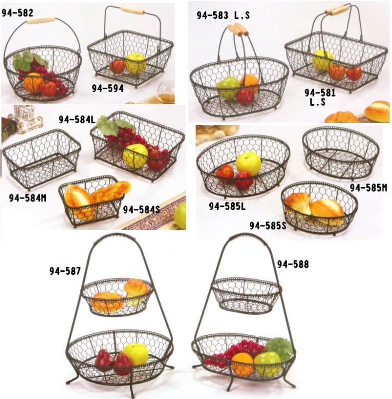 Fruit and Vegetable Basket,French Wire Basket, View Wire Basket