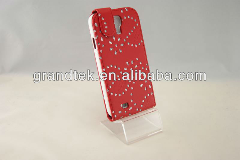 Fashion Lady Mobile Phone Leather Case For Samsung Galaxy S4 i9500
