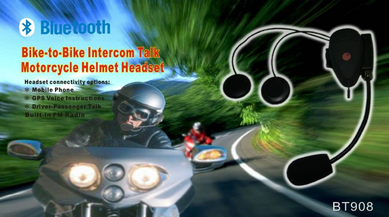 Scooter Helmet Bluetooth Intercom Headsets MP3 Player Headset Motorcycle Radio