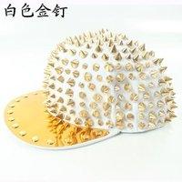Женская бейсболка New 2012 Fashion Sports Snapbacks Hip Hop Caps Adjustable Hats Punk Rivet Baseball Cap 11Colors