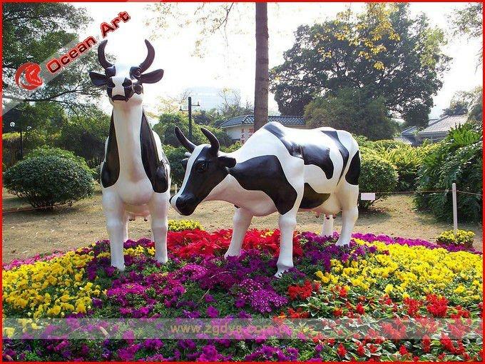 Jardin et le parc décoration en fiber de verre vache-Autres ...