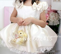 Платье для девочек Sample children girl princess lace skirt dress beige color girl's dresses two styles to choose