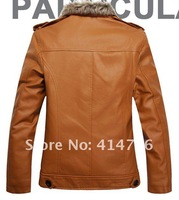 Мужские изделия из кожи и замши New men's clothing qiu dong outfit leather brief paragraph South Korea's tide leisure leather coat