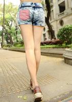 Женские джинсы Price Fashion Stars Stripes US Flag Classical Summer Denim Shorts