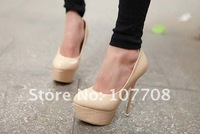 Туфли на высоком каблуке 2012 new Stone pattern bridal dress shoes platform sexy Stiletto high heels