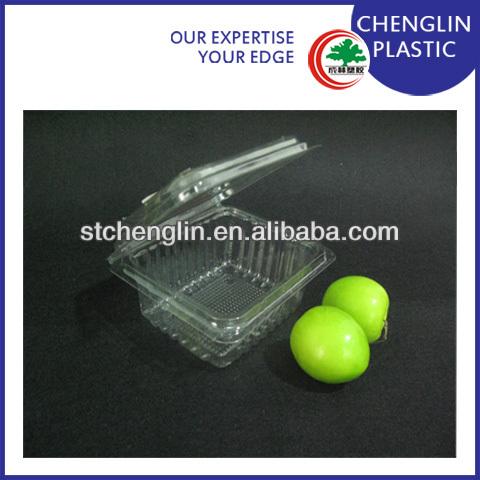 disposable transparent fruit tray design