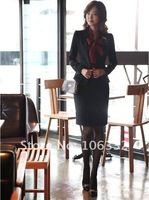 Женский костюм с юбкой new office lady formal skirt suit women, 1 suit =Jacket + Shirt + Skirt, with corsage, size M, L, XL, XXL