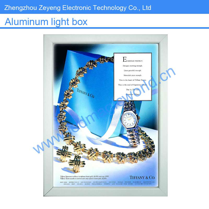 Advertising led aluminium light frame