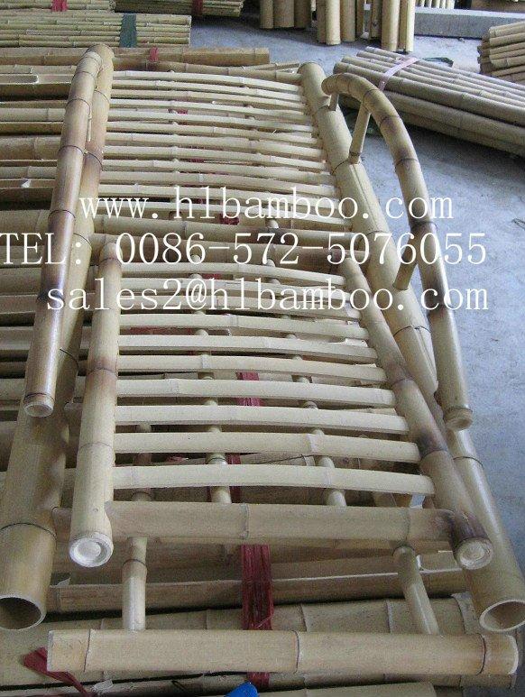 Lazer e cadeira de jantar de bambu