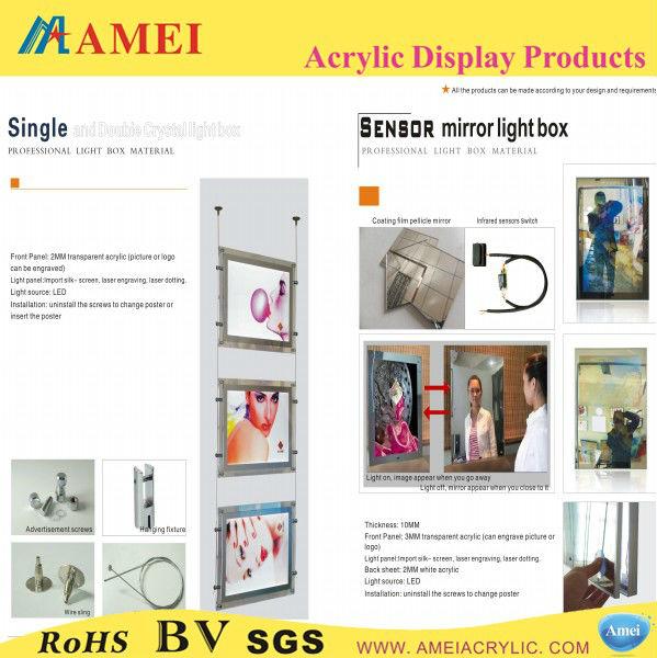 China Wholesale Advertisement handicraft Crystal Acrylic LED light frame shenzhen manufacturer