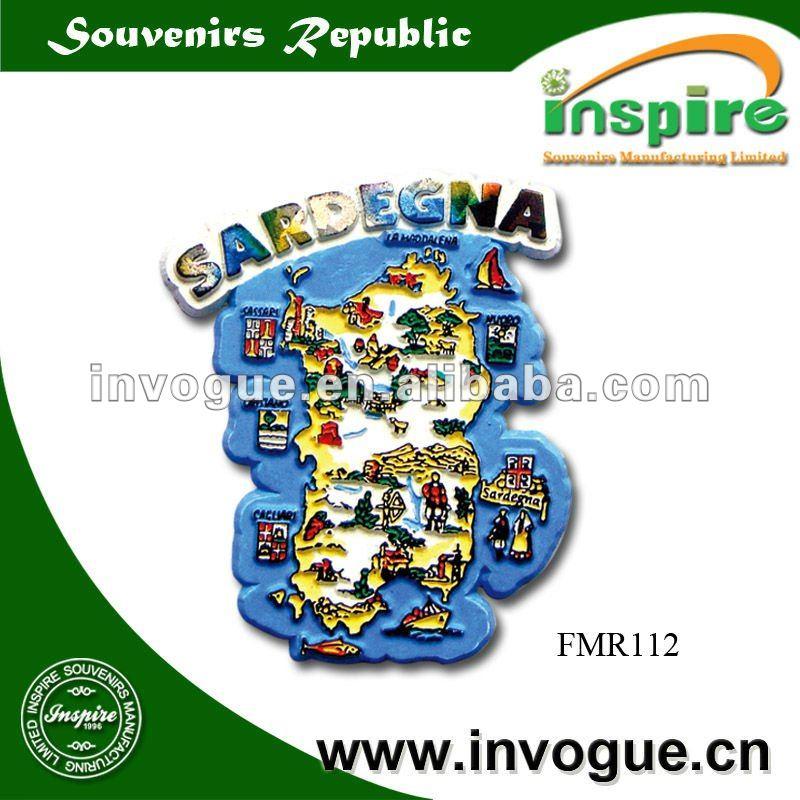 3d tourist rubber souvenir fridge magnet