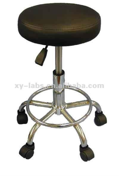 Metal adjustable steel laboratory stool