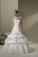 Luxe ball gown beaded pick up tiered wedding dress