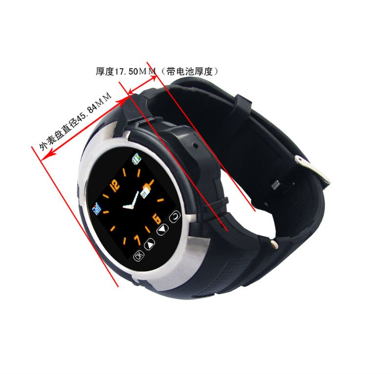 Unlocked Factory Small Size Touch Screen MQ222 Camera Mobile Watch Phone With MP4 Player+Radio