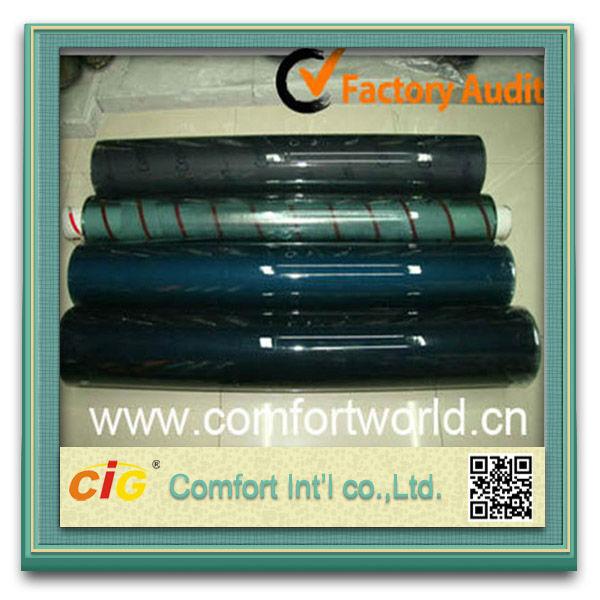 Soft Blue Color PVC Sheets Black