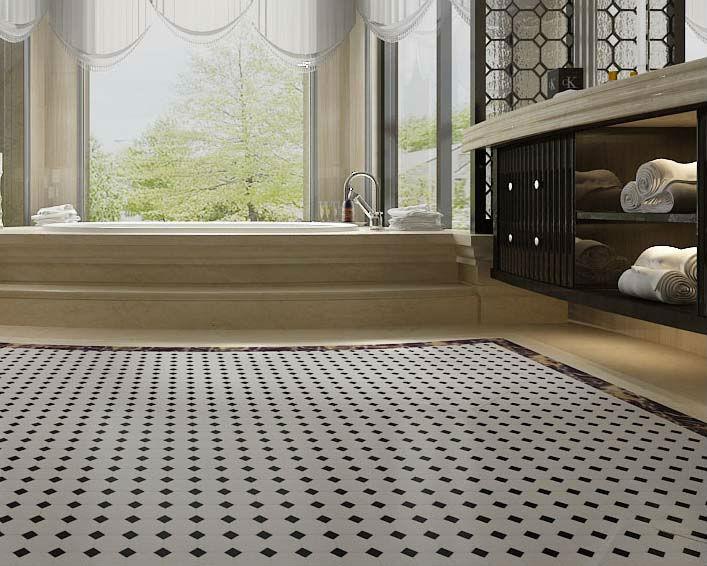 Porcelain Mosaic Tile Black And White Ceramic Tile Stickers