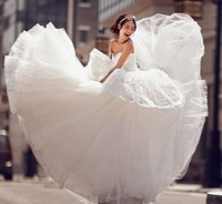 Free shipping high quality lace bridal wedding dresses princess style for new 2013 fashion wedding gowns formal dresses