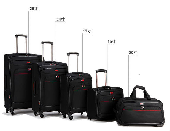 Fashion lightweight promotional travel luggage bag