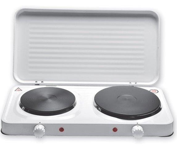portable double cuisson lectrique plaque chauffante avec. Black Bedroom Furniture Sets. Home Design Ideas