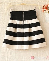 Женская юбка Sweety Womens Girls Mini Dress Retro Flared stripe Skirt