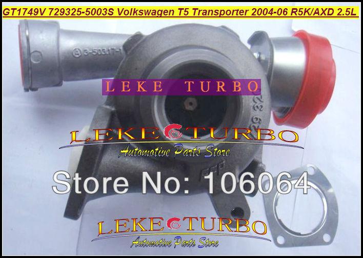 GT1749V 729325-5003S Turbocharger for VOLKSWAGEN T5 Transporter R5K AXD 2.5L 130HP 2004-2006 TURBO
