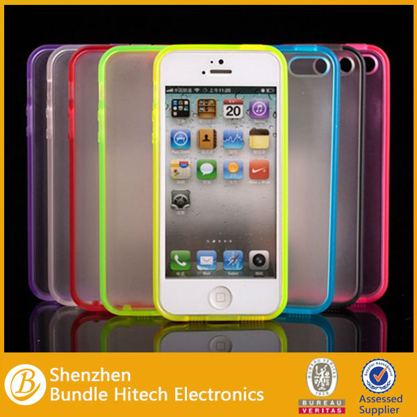 Ultra slim tpu colorful case for iphone 5, high quality custom case for iphone 5
