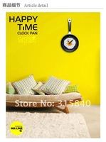 4pcs Creative Fried Eggs Pot Wall Clock Fried Eggs Pan Shaped Clock -- CLK06