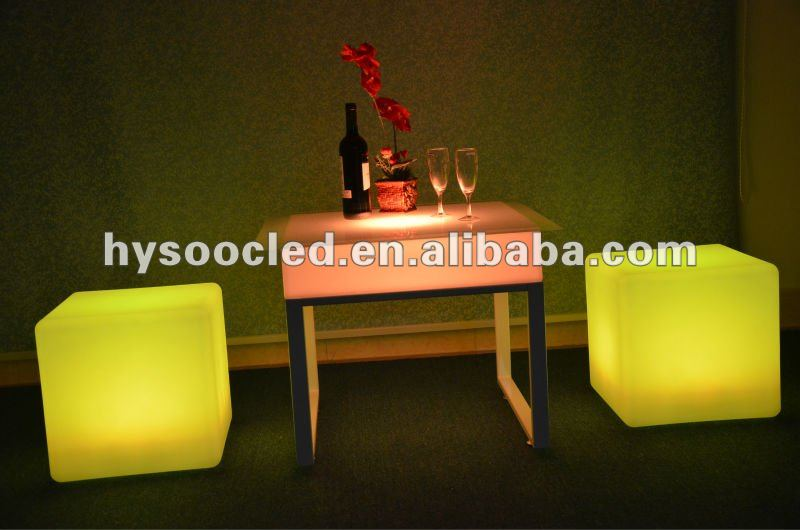 glow long bar table/led bar table/led bar glass top