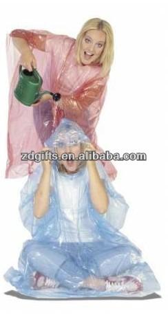 2013 hot selling disposable rain poncho with ball / disposable raincoat / rain coat