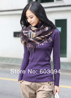 sweet fashion all-match turtleneck muffler wool cotton thickening sweater shirts for women DN8001DS