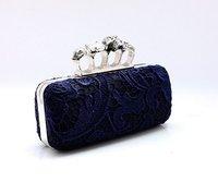 Вечерняя сумка Hot 2013 fashion Skull Clutch Knuckle Rings Handbag, ladies'lace Four finger Evening Bag Punk Wallet, Gift bag