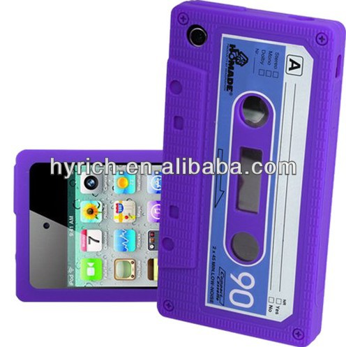 silicone mobile phone case cover for iphone 3gs tape design