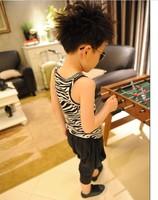 Футболка для мальчиков Baby boys T-shirts kids children sleeveless tank leopard zebra t shirt boy tee shirts 0511sylvia 1244630770