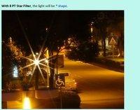 Фильтр для фотокамеры 55mm Black Optical Glass 8 Lines 8 PT Star Filter for Canon Nikon Camera