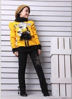 Брюки для девочек 2012 Top sell&High quality girls Brand warmer leggings fashion bottom pants Black #1213