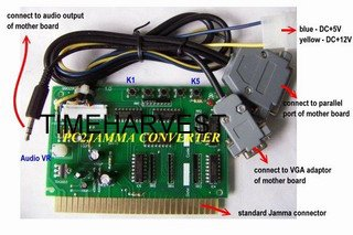 2 Pcs PC to jamma converter board/PC2Jamma/computer to arcade game machine/computer to cabinet/amusement machine