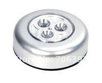 Free shipping 3 LED Push Touch Night Light 1pcs/lot