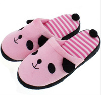 Женские тапочки New Korea Style Cute Lovely Stripe Panda Plush Warm Slippers Indoor Home Shoes, Indoor Slippers Winter Warming, Size 36-41