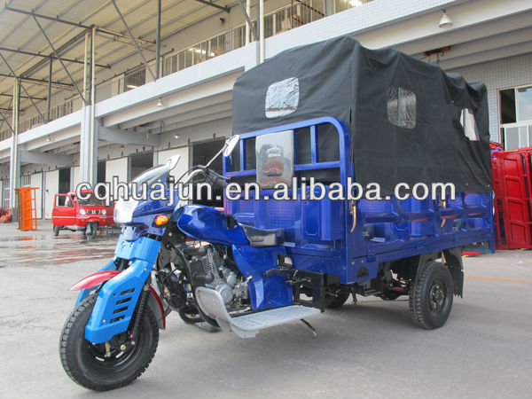 chonging 250cc motorcycle/tricycles for cargo with roof covered
