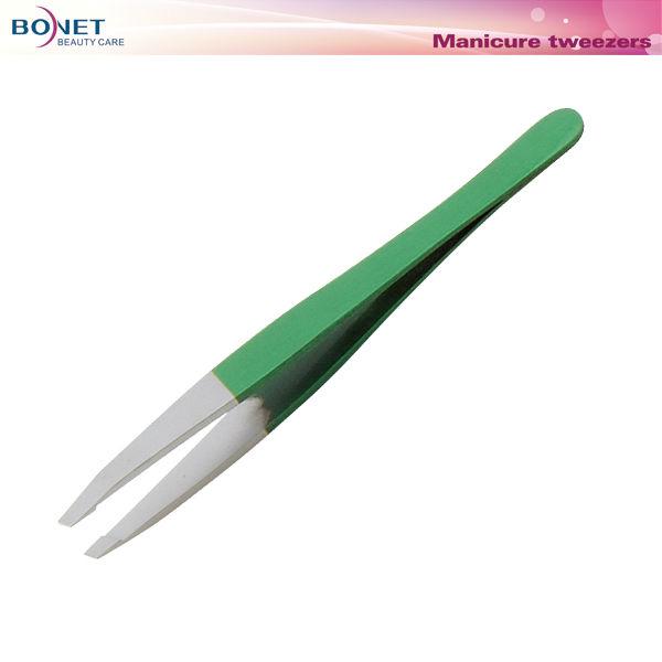 SST001 FDA qualified 2014 best design stainless steel eyebrow tweezers
