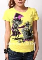 hotsale fashion rock t-shirt ,iron fist woman's style DHL free shipping mix order  IFW010