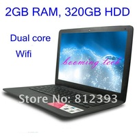 Ноутбук 13.3 inch Intel Atom D2500 dual core HDD wifi notebook laptop computer
