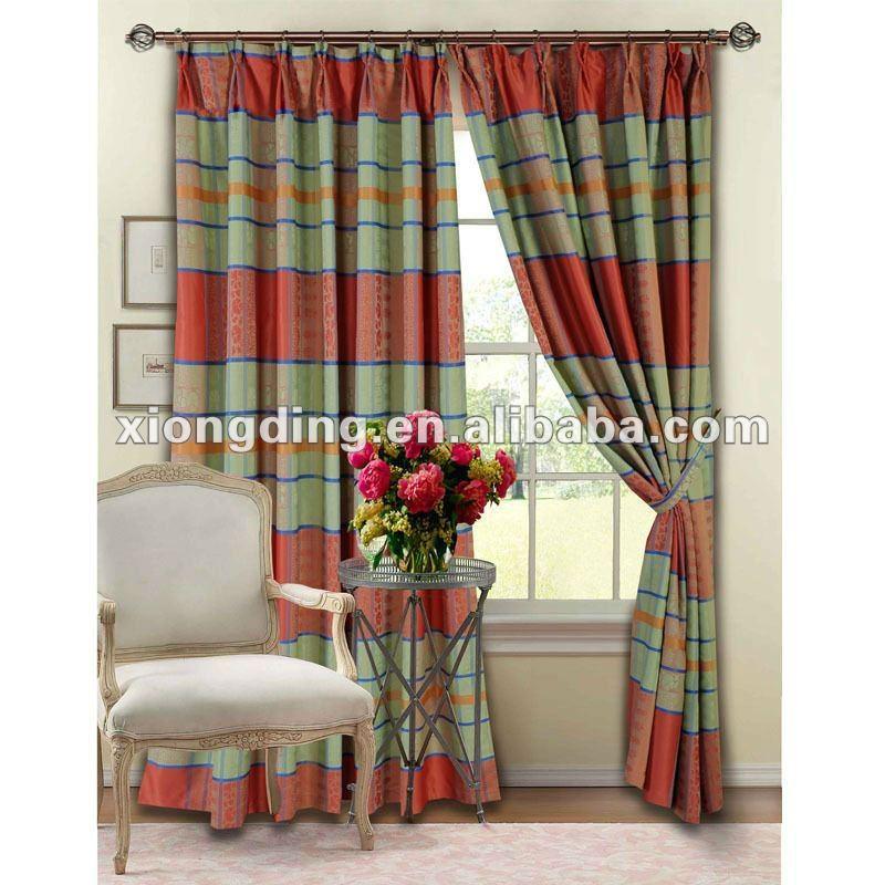 Imprim tissu de rideau utiliser pour la cuisine chambre - Rideaux originaux pour cuisine ...