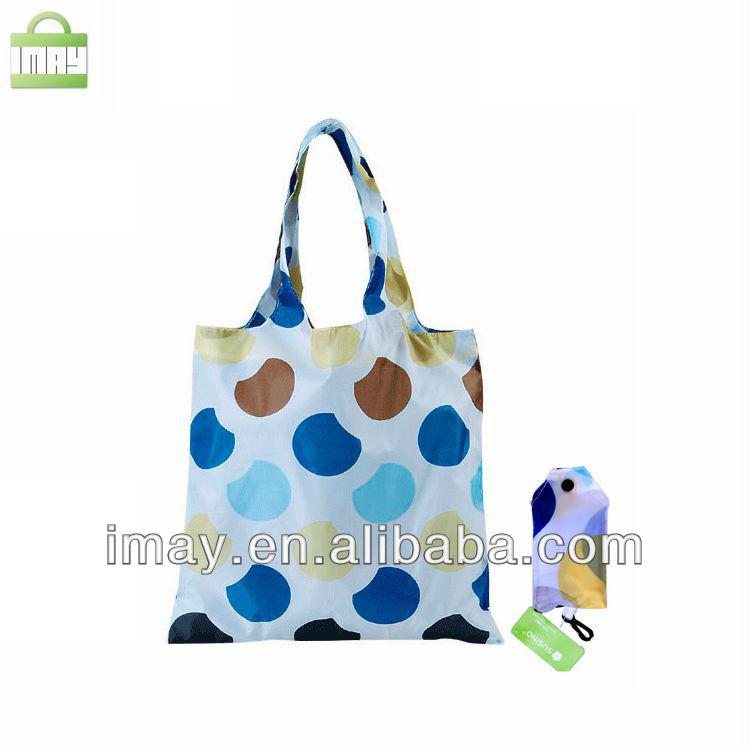 Full printing polyester foldable shopping bag