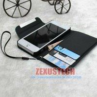 Чехол для для мобильных телефонов 10pcs/lot Smooth Fashion Wallet Nylon + PU leather Flip Case For Apple iPhone 5 5G Phone Stand Cover