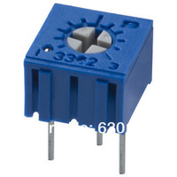 Потенциометр 50PCS Trimming Potentiometer 3362P 100R 101 Trimmer Resistors 3362 100R Variable Resistors 100 ohm