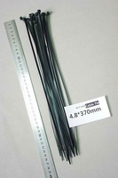 4.6x370mm PA66 Plastic Nylon cable tie black cable tie 14.6 inch CE UL UV cable tie
