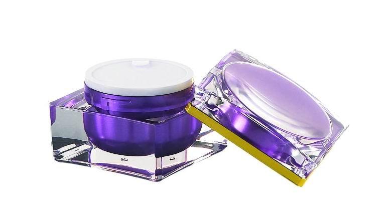 15g, 30g, 50g cosmetic packaging purple plastic (acrylic) cream jar